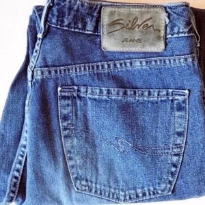 Silver Jeans button fly straight leg jeans Sz 31